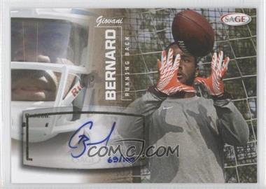 2013 SAGE Autographs Gold #6 - Giovani Bernard /100