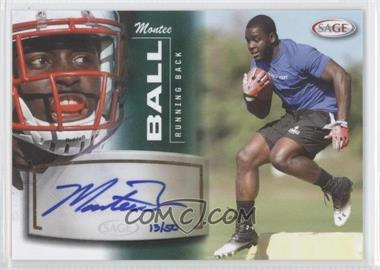 2013 SAGE Autographs Green #3 - Montee Ball /50