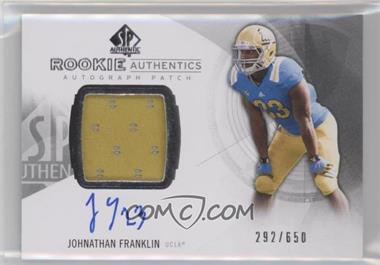 2013 SP Authentic - [Base] #169 - Rookie Patch Autographs - Johnathan Franklin /650