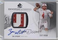 Rookie Patch Autographs - Zac Dysert /650