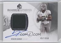 Rookie Patch Autographs - Kenjon Barner /650