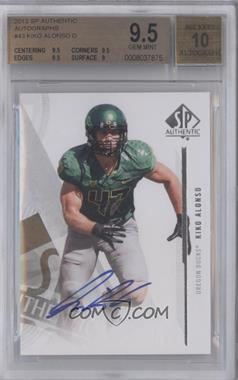 2013 SP Authentic Autographs #43 - Kiko Alonso [BGS 9.5]