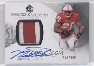 2013 SP Authentic #164 - Rookie Patch Autographs - Montee Ball /650