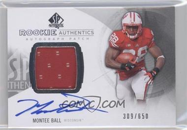 2013 SP Authentic #164 - Rookie Patch Autographs - Montee Ball /650