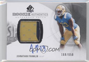2013 SP Authentic #169 - Rookie Patch Autographs - Johnathan Franklin /650