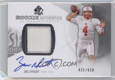 2013 SP Authentic #173 - Rookie Patch Autographs - Zac Dysert /650