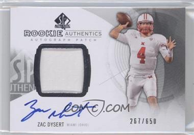 2013 SP Authentic #173 - Zac Dysert /650