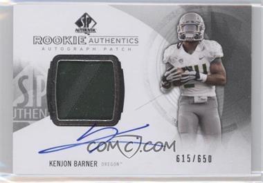 2013 SP Authentic #174 - Rookie Patch Autographs - Kenjon Barner /650