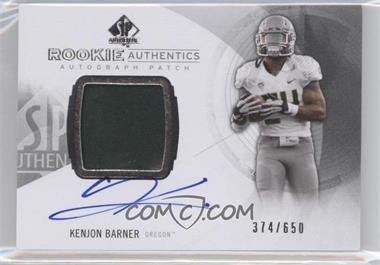 2013 SP Authentic #174 - Rookie Patch Autographs - Kenjon Barner /650