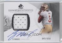 Rookie Patch Autographs - EJ Manuel /650