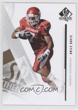 2013 SP Authentic #25 - Knile Davis