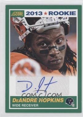 2013 Score Rookie Signatures [Autographed] #356 - DeAndre Hopkins
