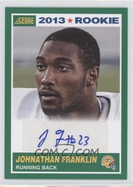 2013 Score Rookie Signatures [Autographed] #377 - Johnathan Franklin