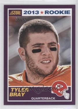 2013 Score Rookies Purple #432 - Tyler Bray /99