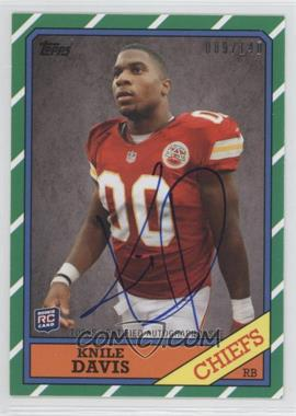 2013 Topps 1986 Topps Rookie Autographs [Autographed] #38 - Knile Davis /140