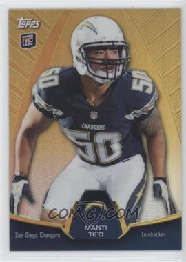 2013 Topps Blaster Box Holiday Mega Rookie Refractors #MBC-MT - Manti Te'o