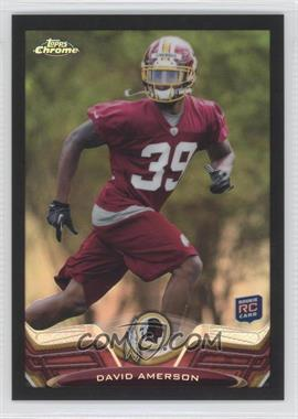 2013 Topps Chrome - [Base] - Black Refractor #66 - David Amerson /299