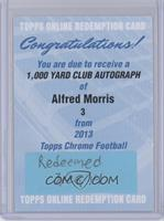 Alfred Morris [REDEMPTION Being Redeemed]