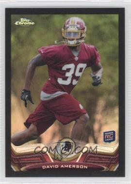 2013 Topps Chrome Black Refractor #66 - David Amerson /299