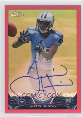 2013 Topps Chrome Rookie Autographs BCA Refractor #18 - Justin Hunter /75