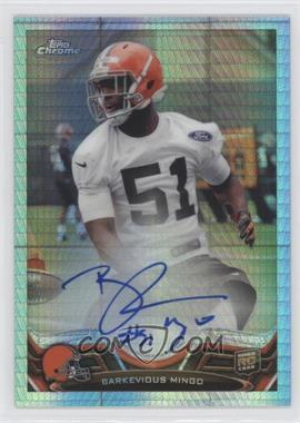 2013 Topps Chrome Rookie Autographs Prism Refractor #106 - Barkevious Mingo /15