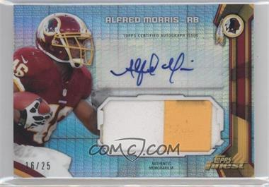 2013 Topps Finest Autographed Jumbo Relic Prism Refractor Patch #AJR-AM - Alfred Morris /25