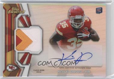 2013 Topps Finest Rookie Autographed Patches #RAP-KD - Knile Davis