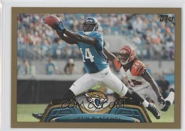 2013 Topps Gold Border #312 - Justin Blackmon /2013