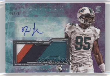 2013 Topps Inception Autograph Jumbo Patch Purple #IAJP-DJ - Dion Jordan /50