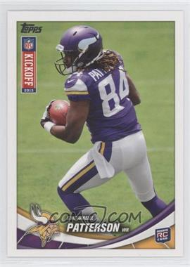 2013 Topps Kickoff #8 - Cordarrelle Patterson