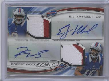 2013 Topps Platinum - Rookie Dual Autograph Patch #DADP-MW - EJ Manuel, Robert Woods /25