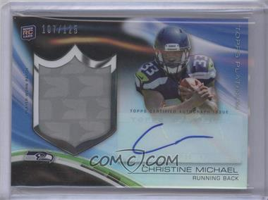 2013 Topps Platinum Autograph Rookie Refractor Patch Black #ARP-CM - Christine Michael /125