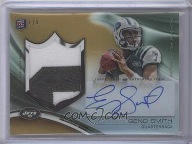 2013 Topps Platinum Autograph Rookie Refractor Patch Gold Refractor #ARP-GS - Geno Smith /5