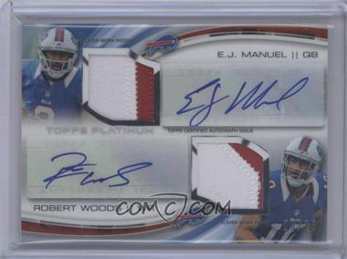 2013 Topps Platinum Rookie Dual Autograph Patch #DADP-MW - EJ Manuel, Robert Woods /25