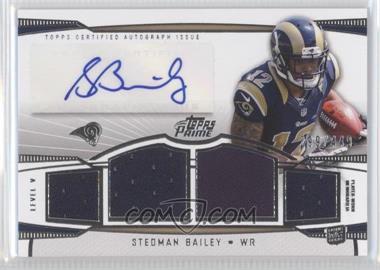 2013 Topps Prime - Level V Autograph Relics - Silver #PV-SB - Stedman Bailey /449