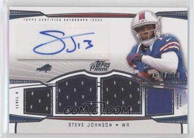 2013 Topps Prime - Level V Autograph Relics - Silver #PV-SJ - Steve Johnson /200