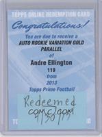 Andre Ellington /75 [REDEMPTIONBeingRedeemed]