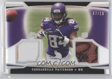 2013 Topps Prime Dual Relics Silver Rainbow #DR-CP - Cordarrelle Patterson /10