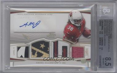 2013 Topps Prime Level V Autograph Relics Gold Rainbow #PV-AE - Andre Ellington /1 [BGS 8.5]