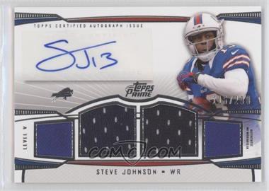 2013 Topps Prime Level V Autograph Relics Silver #PV-SJ - Steve Johnson /200