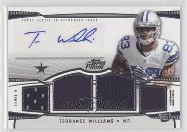 2013 Topps Prime Level V Autograph Relics Silver #PV-TWI - Terrance Williams /449