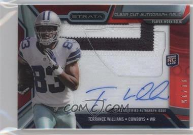 2013 Topps Strata - Clear Cut Autograph Rookie Relics - Ruby Patch #CCAR-TWI - Terrance Williams /15