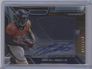 2013 Topps Strata Clear Cut Autograph Rookie Relics Bronze #CCAR-MBA - Montee Ball /150