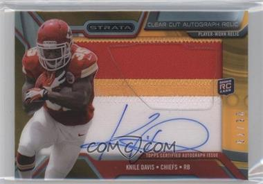 2013 Topps Strata Clear Cut Autograph Rookie Relics Gold Patch #CCAR-KD - Knile Davis /75
