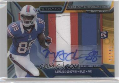 2013 Topps Strata Clear Cut Autograph Rookie Relics Gold Patch #CCAR-MGO - Marquise Goodwin /75