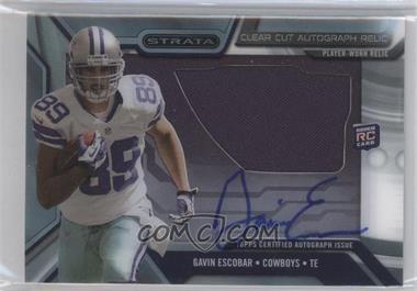 2013 Topps Strata Clear Cut Autograph Rookie Relics #CCAR-GE - Gavin Escobar