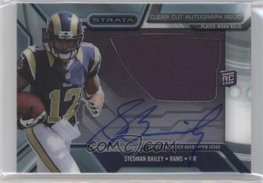2013 Topps Strata Clear Cut Autograph Rookie Relics #CCAR-SB - Stedman Bailey