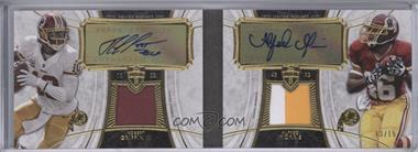2013 Topps Supreme - Dual Autograph Patch #SDAP-GM - Robert Griffin III, Alfred Morris /15