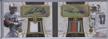 2013 Topps Supreme Dual Autograph Patch #SDAP-MT - Dan Marino, Ryan Tannehill /15