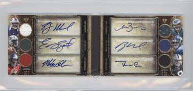 2013 Topps Triple Threads Autograph Relic Double Combos Book Gold #TTARDC-MSGBNW - EJ Manuel, Geno Smith, Mike Glennon, Matt Barkley, Ryan Nassib, Tyler Wilson /18